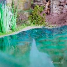 Imitación de agua verde 125 cc - Para Maquetas - Artisan 05101 ejemplo de uso