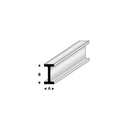 I de estireno sección 10 x 20 mm (33cm x 3) de longitud - Modr414-62