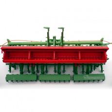 Sembradora de cereal Nodet Gougis GC a escala 1:32 de Replicagri Ref: REP012 detalle cajones semilla