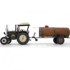 Tractor Lanz Bulldog con techo y cuba de estiércol - Miniatura 1:32 - Schuco 450769900 lateral izquierdo