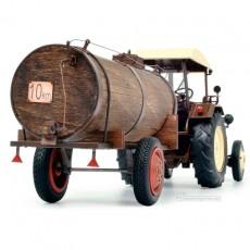 Tractor Lanz Bulldog con techo y cuba de estiércol - Miniatura 1:32 - Schuco 450769900 posterior