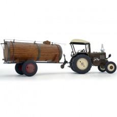 Tractor Lanz Bulldog con techo y cuba de estiércol - Miniatura 1:32 - Schuco 450769900 lateral derecho