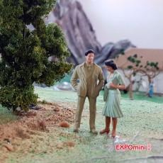 Transeúntes bien vestidos (2 mujeres y 1 hombre) - Miniatura 1:32 - Presier 63068 ejemplo utilización