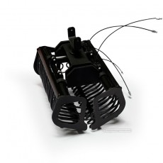 Cazo de varillas negro montado - Miniaturas 1:32 - Artisan 03213N cerrado