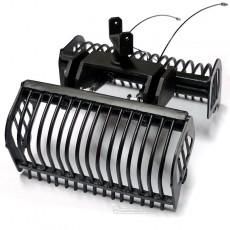Cazo de varillas negro montado - Miniaturas 1:32 - Artisan 03213N abierto