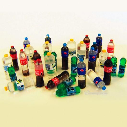 Kit botellas de refresco grandes - Para maquetar - Miniatura 1:35- PlusModel 446