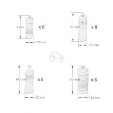 Kit botellas de refresco grandes - Para maquetar - Miniatura 1:35- PlusModel 446 medidas