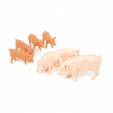 Cerdos blancos grandes - Miniatura 1:32 - BRITAINS 40966