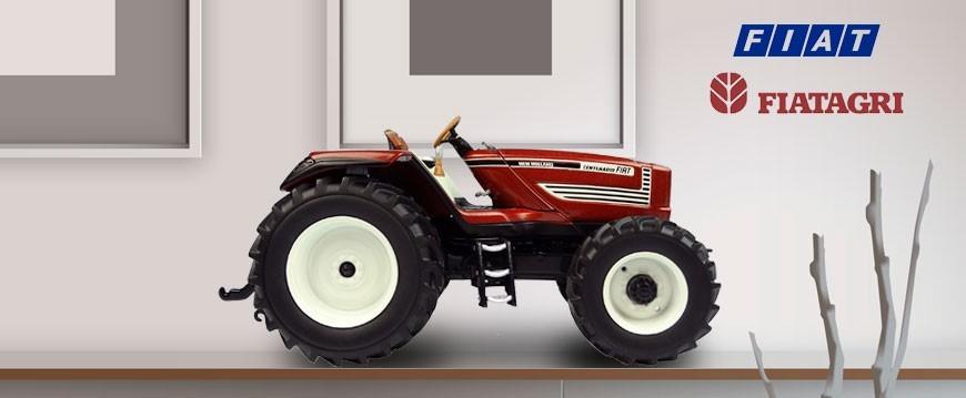 Selección de miniaturas a diferentes escalas de la marca Fiatagri Fiat