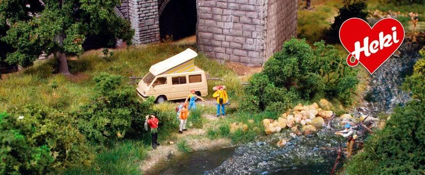 Selección accesorios para crear paisajes en dioramas de la marca Heki.