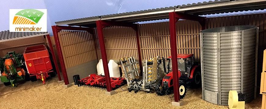 Sección de Minimaker a escala 1:32 - Minaturas y kits agrícolas.