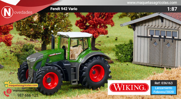 Fendt 942 vario a escala 1:87 referencia 036163