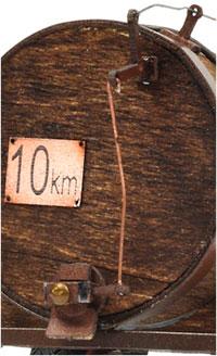 Detalle del sistema de apertura de la cisterna