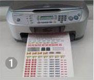 Paso 1 imprimir la calcomanía