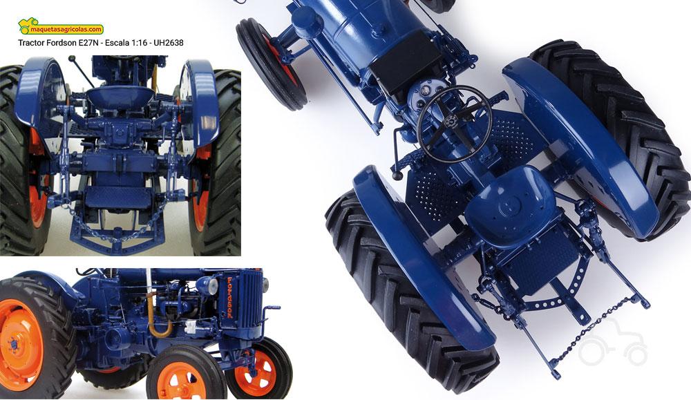 Algunos detalles del Tractor Fordson E27N