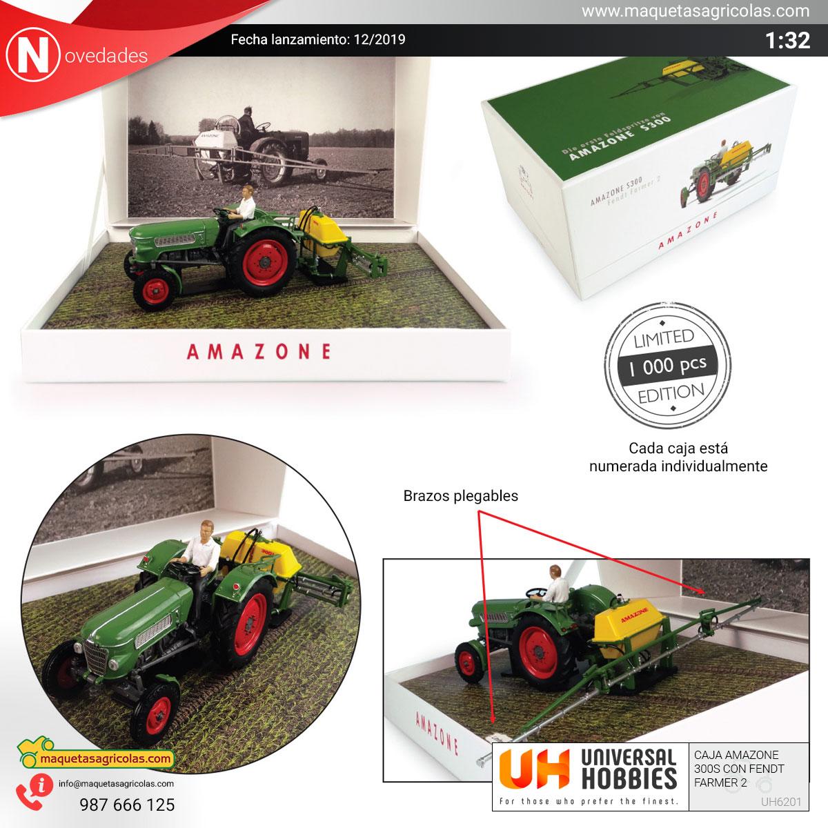 Amazone 300S mas tractor Fendt en caja de coleccionista.