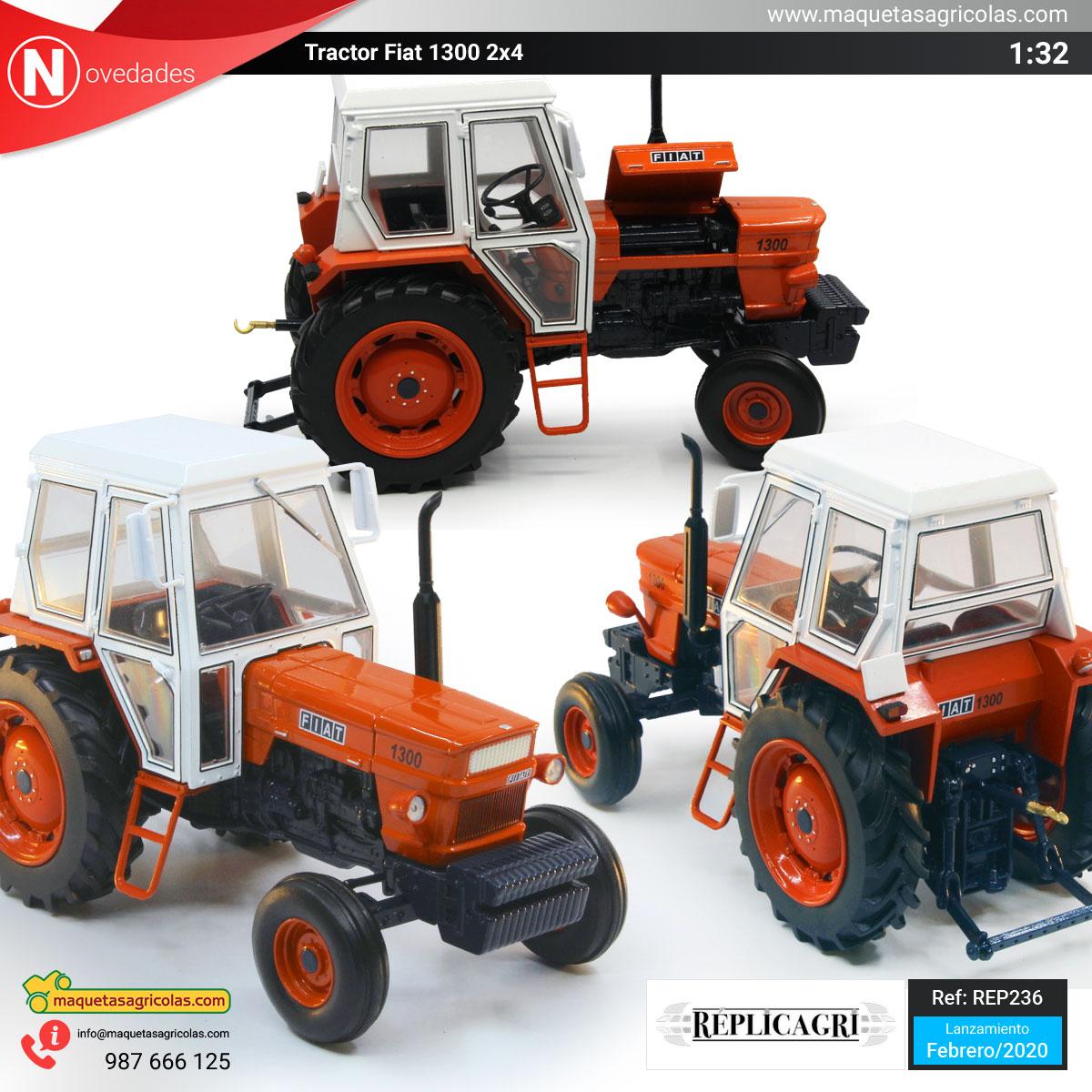 Tractor Fiat 1300 de Replicagri referencia REP236