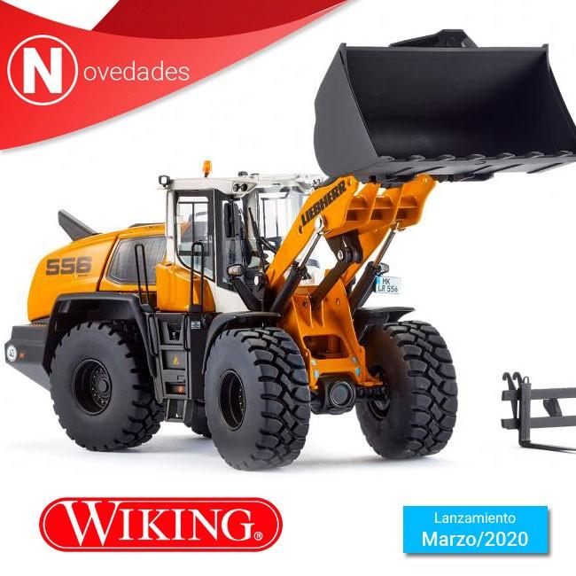 Cargadora de ruedas Liebherr L 556 el primer modelo de construcción de Wiking