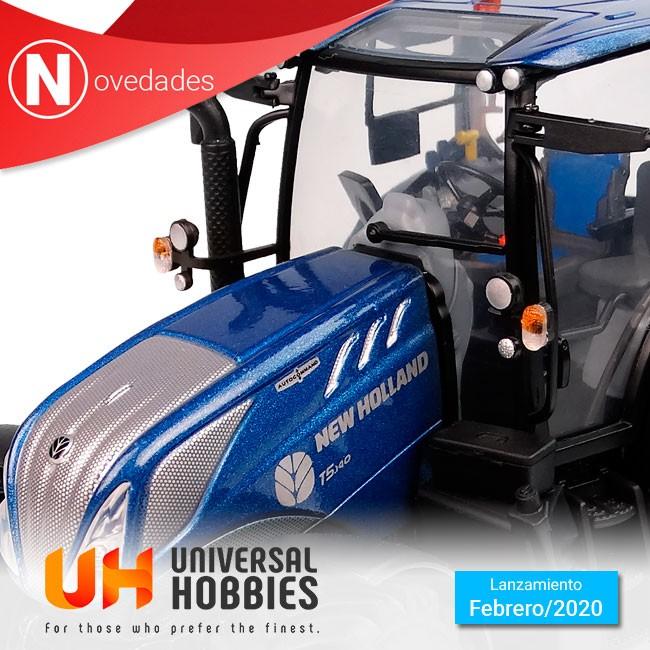 Con el New Holland T5.140 Blue Power con techo de vista panorámica, finaliza las novedades de tractores de Universal Hobbies para Febrero