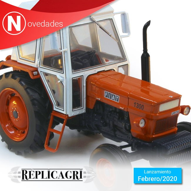 Tractor Fiat 1300 2x4, el nuevo modelo de Replicagri que verá la luz este mes de Febrero