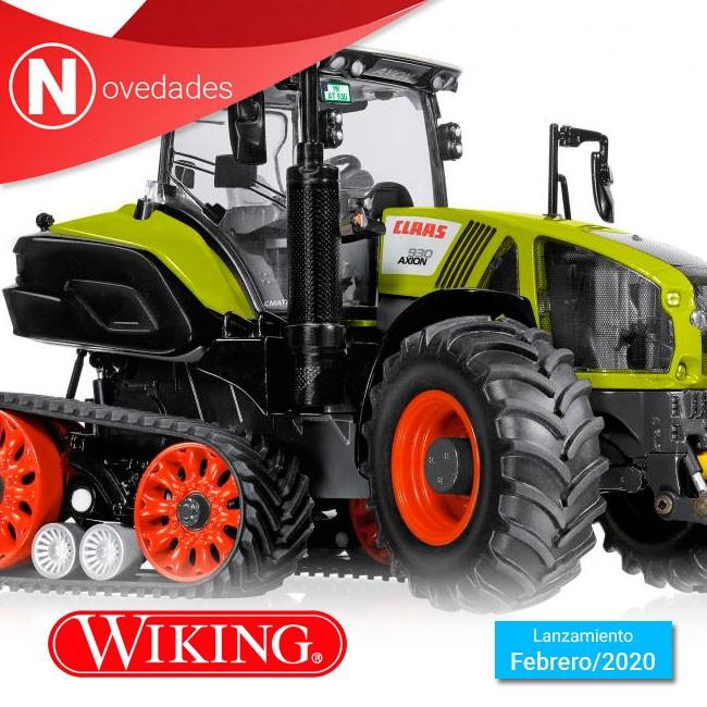 El tractor de orugas traseras Claas Axion 930 se incorpora este mes de febrero al nuevo catálogo de Wiking