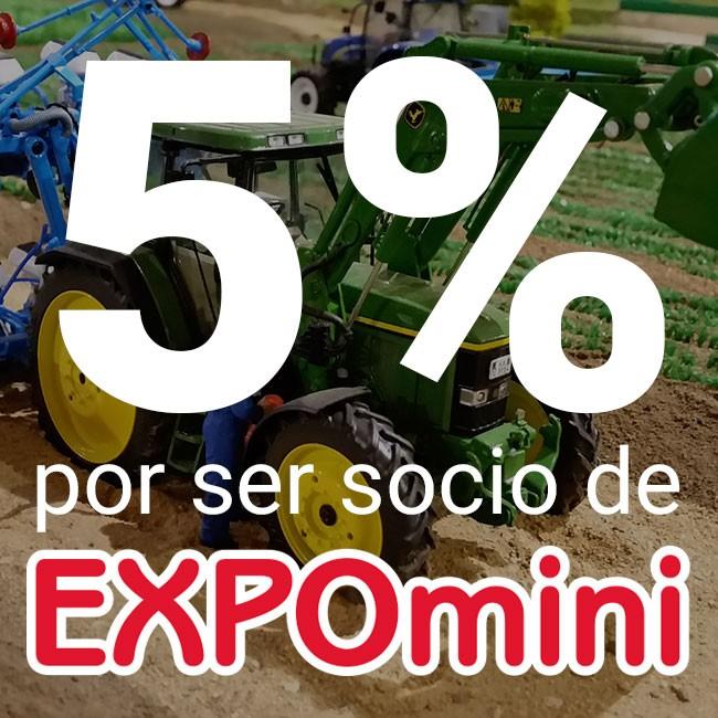 Hazte socio de EXPOmini y consigue un 5% de Dto en tus compras